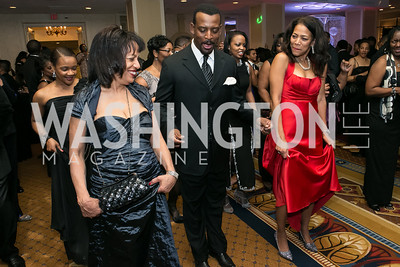 Betty Johnson, Kelvin Davis, Jane Howard Martin. Photo by Alfredo Flores. Congressional Black Caucus Foundation Inaugural Gala & Celebration. Capital Hilton Hotel. January 21, 2013.