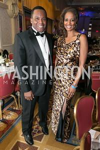 Kevin Callwood, Nedra Dodds. Photo by Alfredo Flores. Congressional Black Caucus Foundation Inaugural Gala & Celebration. Capital Hilton Hotel. January 21, 2013.