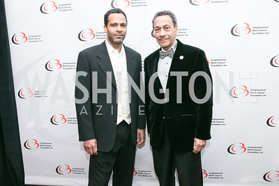 Jason Watt, Rep. Mel Watt. Photo by Alfredo Flores. Congressional Black Caucus Foundation Inaugural Gala & Celebration. Capital Hilton Hotel. January 21, 2013.