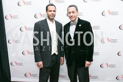 Jason Watt, Rep. Mel Watt. Photo by Alfredo Flores. Congressional Black Caucus Foundation Inaugural Gala & Celebration. Capital Hilton Hotel. January 21, 2013.
