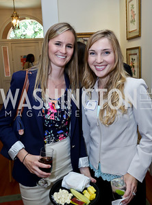 Shannon Crowley, Rebecca Vermette. Photo by Tony Powell. CCAI Foster Youth Internship Luncheon. Residence of Senator Mary Landrieu. June 12, 2013