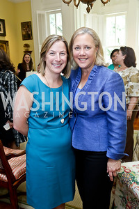 Congressional Coalition on Adoption Institute Executive Director Kathleen Strottman, Sen. Mary Landrieu. Photo by Tony Powell. CCAI Foster Youth Internship Luncheon. Residence of Senator Mary Landrieu. June 12, 2013