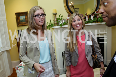 Ashleigh Davenport Holly Wilson. Photo by Tony Powell. CCAI Foster Youth Internship Luncheon. Residence of Senator Mary Landrieu. June 12, 2013