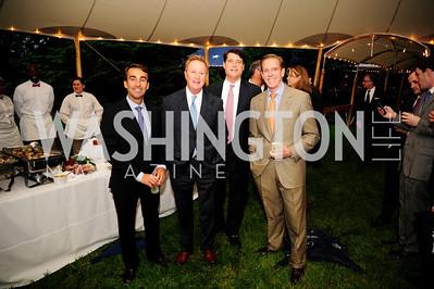 Dana Landry,William Moody,Marc Schappell,Tom Anderson,June 6,2013,Country BBQ to benefit Chidren's Speech and Hearing Center At Villa Firenze,Kyle Samperton