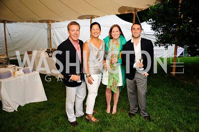 Brad Nelson,Trish Yan ,Kate Collins,Marc Fichera,June 6,2013,Country BBQ to benefit Chidren's Speech and Hearing Center At Villa Firenze,Kyle Samperton