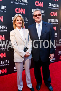 Greta Van Susteren and John Coale. Photo by Tony Powell. Crossfire Returns. Carnegie Library. September 10, 2013
