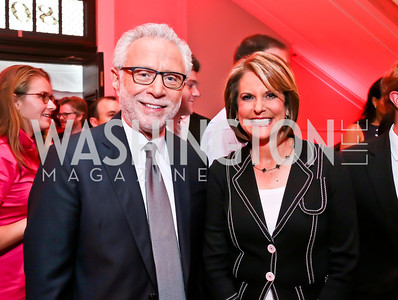 Wolf Blitzer, Gloria Borger. Photo by Tony Powell. Crossfire Returns. Carnegie Library. September 10, 2013