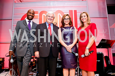 Van Jones, Newt Gingrich, S.E. Cupp, Stephanie Cutter. Photo by Tony Powell. Crossfire Returns. Carnegie Library. September 10, 2013