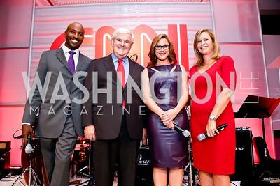 Van Jones, Newt Gingrich, S.E. Cupp, Stephanie Cutter. Photo by Tony Powell. Crossfire Returns. Carnegie Library. September 10, 2013