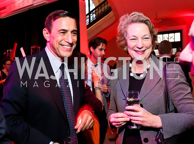 Rep. Darrell Issa, Susan Eisenhower. Photo by Tony Powell. Crossfire Returns. Carnegie Library. September 10, 2013