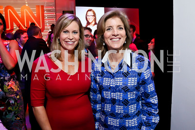 Stephanie Cutter, Caroline Kennedy. Photo by Tony Powell. Crossfire Returns. Carnegie Library. September 10, 2013