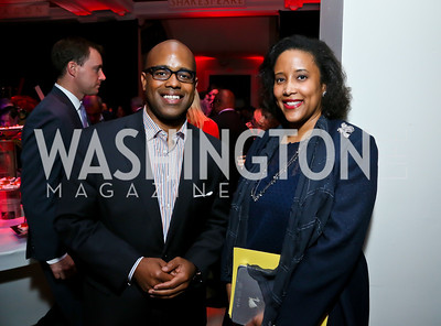 Jamal Simmons, Jennifer Dargan. Photo by Tony Powell. Crossfire Returns. Carnegie Library. September 10, 2013