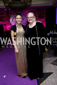 Ashley and Helen Singleton. Photo by Tony Powell. 2013 Crystal Heart Awards. Marriott Inn and Conference Center. December 6, 2013