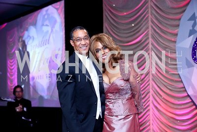 Laurel Hospital President and COO John Spearman, Jennifer Holliday. Photo by Tony Powell. 2013 Crystal Heart Awards. Marriott Inn and Conference Center. December 6, 2013