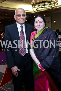 Kamlesh Shah and Dr. Gita Shah. Photo by Tony Powell. 2013 Crystal Heart Awards. Marriott Inn and Conference Center. December 6, 2013