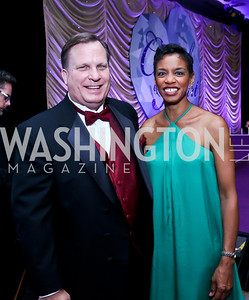 Mayor of Laurel, MD Craig Moe, Rep. Donna Edwards. Photo by Tony Powell. 2013 Crystal Heart Awards. Marriott Inn and Conference Center. December 6, 2013
