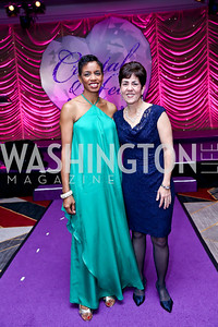 Rep. Donna Edwards, Councilwoman Mary Lehman. Photo by Tony Powell. 2013 Crystal Heart Awards. Marriott Inn and Conference Center. December 6, 2013