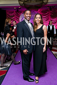 Travis and Nicole Jasper. Photo by Tony Powell. 2013 Crystal Heart Awards. Marriott Inn and Conference Center. December 6, 2013