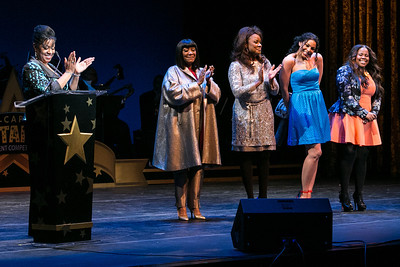 Angela Rodriguez, Patti LaBelle, Denyce Graves, Jordin Sparks, Amber Riley. DC-CAPital Stars Talent Competition at Kennedy Center Eisenhower Theatre. Kennedy Center Eisenhower Theater