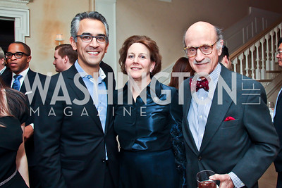 Richard Woolfe, Susie Poneman, Finlay Lewis. Photo by Tony Powell. Bradley Inauguration Dinner. January 20, 2013