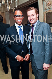 Jonathan Capehart, Nick Schmit. Photo by Tony Powell. Bradley Inauguration Dinner. January 20, 2013