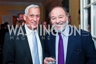 Walter Isaacson, Joe Klein. Photo by Tony Powell. Bradley Inauguration Dinner. January 20, 2013