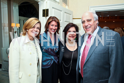 Kathy Lacey, Sherrie Westin, Rhoda and Dan Glickman. Photo by Tony Powell. Bradley Inauguration Dinner. January 20, 2013