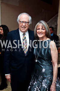 Bob Barnett and Rita Braver. Photo by Tony Powell. Bradley Inauguration Dinner. January 20, 2013