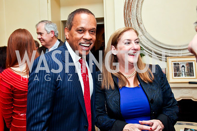 Juan Williams, Amy Nathan. Photo by Tony Powell. Bradley Inauguration Dinner. January 20, 2013