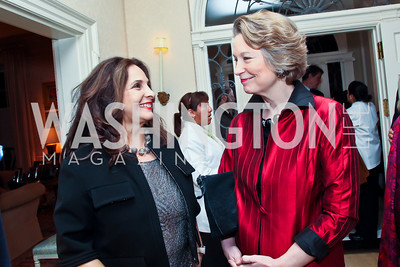 Samia Farouki, Susan Eisenhower. Photo by Tony Powell. Bradley Inauguration Dinner. January 20, 2013