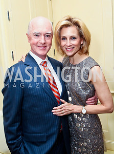 David and Katherine Bradley. Photo by Tony Powell. Bradley Inauguration Dinner. January 20, 2013