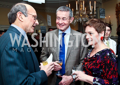 Bill Hughes, Bill Plante, Robin Smith. Photo by Tony Powell. Bradley Inauguration Dinner. January 20, 2013