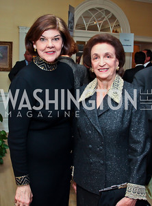 Ann Compton, Lucky Roosevelt. Photo by Tony Powell. Bradley Inauguration Dinner. January 20, 2013
