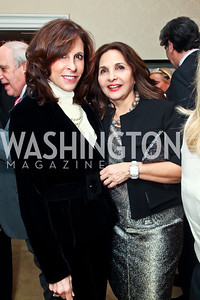 Beth Dozoretz, Samia Farouki. Photo by Tony Powell. Bradley Inauguration Dinner. January 20, 2013