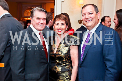 Jack Quinn, Adrienne Arsht, Larry Grisolano. Photo by Tony Powell. Bradley Inauguration Dinner. January 20, 2013