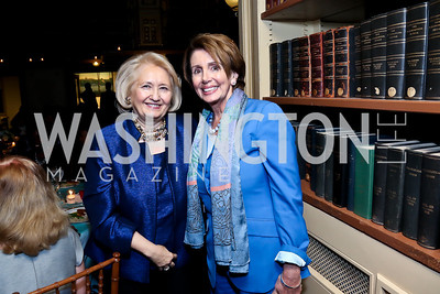 Melanne Verveer, Leader Nancy Pelosi. Photo by Tony Powell. Dinner Celebrating Women Ambassadors to the US. Riggs Library, Georgetown Univ. October 14, 2013