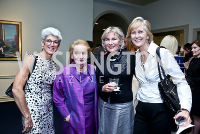Lisa Brown, Madeleine Albright, Gail Griffith, Foreign Service Institute Director Nancy McEldowney. Photo by Tony Powell. Dinner Celebrating Women Ambassadors to the US. Riggs Library, Georgetown Univ. October 14, 2013