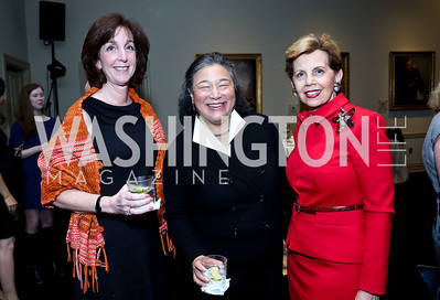 Roberta Jacobson, Chief of Staff to First Lady Michelle Obama Tina Tchen, Adrienne Arsht. Photo by Tony Powell. Dinner Celebrating Women Ambassadors to the US. Riggs Library, Georgetown Univ. October 14, 2013