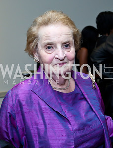 Madeleine Albright. Photo by Tony Powell. Dinner Celebrating Women Ambassadors to the US. Riggs Library, Georgetown Univ. October 14, 2013