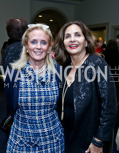 Debbie Dingell, Samia Farouki. Photo by Tony Powell. Dinner Celebrating Women Ambassadors to the US. Riggs Library, Georgetown Univ. October 14, 2013