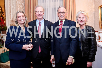 Katherine Van Hollen and Rep. Chris Van Hollen, Fred Hockburg, Jane Harman. Photo by Tony Powell. Dinner for Christine Lagarde at the residence of the Lebanese Ambassador. December 19, 2013