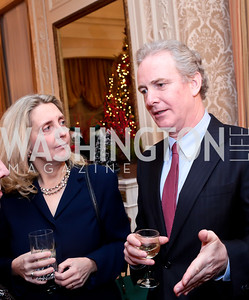 Katherine Van Hollen and Rep. Chris Van Hollen. Photo by Tony Powell. Dinner for Christine Lagarde at the residence of the Lebanese Ambassador. December 19, 2013