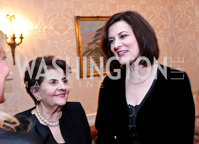 Doris Reggie and Victoria Reggie Kennedy. Photo by Tony Powell. Dinner for Christine Lagarde at the residence of the Lebanese Ambassador. December 19, 2013