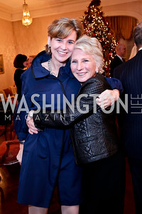 Sophie Delattre, Jane Harman. Photo by Tony Powell. Dinner for Christine Lagarde at the residence of the Lebanese Ambassador. December 19, 2013