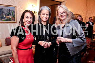 Elena Allbritton, Liza Gilbert, Jennifer Isham. Photo by Tony Powell. Dinner for Christine Lagarde at the residence of the Lebanese Ambassador. December 19, 2013