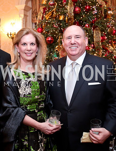 Lea and Wayne Berman. Photo by Tony Powell. Dinner for Christine Lagarde at the residence of the Lebanese Ambassador. December 19, 2013