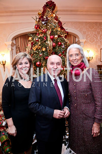 Nicole and Lebanese Amb. Antoine Chedid, Christine Lagarde. Photo by Tony Powell. Dinner for Christine Lagarde at the residence of the Lebanese Ambassador. December 19, 2013