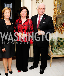 Finnish Amb.Ritva Koukko Ronde,Agnes Matthysen,Belgian Amb. Jan Matthysen,,April 29,2013,Dinner at The Residence of The Ambassador of The Netherlands on the eve of The Investiture of King Willem-Alexander,Kyle Samperton
