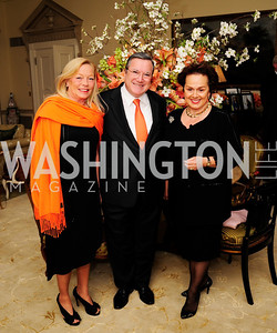 Ellen Noghes,Monaco Amb.Gilles Noghes,Liechenstein Amb.Claudia Fritsche, 29,2013,Dinner at The Residence of The Ambassador of The Netherlands on the eve of The Investiture of King Willem-Alexander,Kyle Samperton