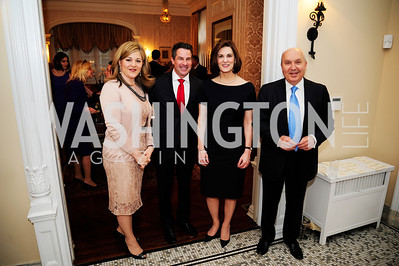 Nicole Chedid, Jeremy Bernard,Vicki Kennedy,Leb.Amb.Antoine Chedid,April 24,2013,A Dinner in Honor of Mrs.Victoria Reggie Kennedy at the Residence of the Ambassador of Lebanon,Kyle Samperton